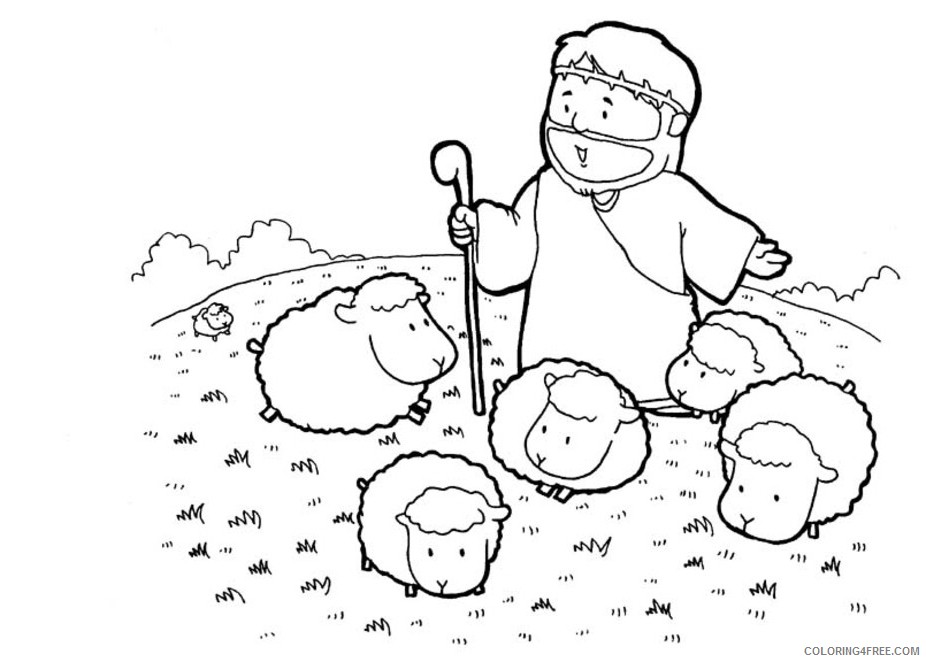 Jesus is the Good Shepherd coloring page   Free Printable Coloring ...   662x926