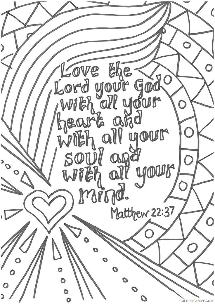 Bible Coloring Pages With Verses Coloring4free - Coloring4Free.com