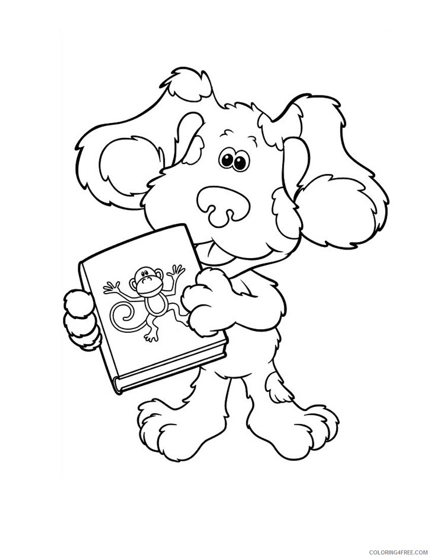 - Blues Clues Coloring Pages With A Book Coloring4free
