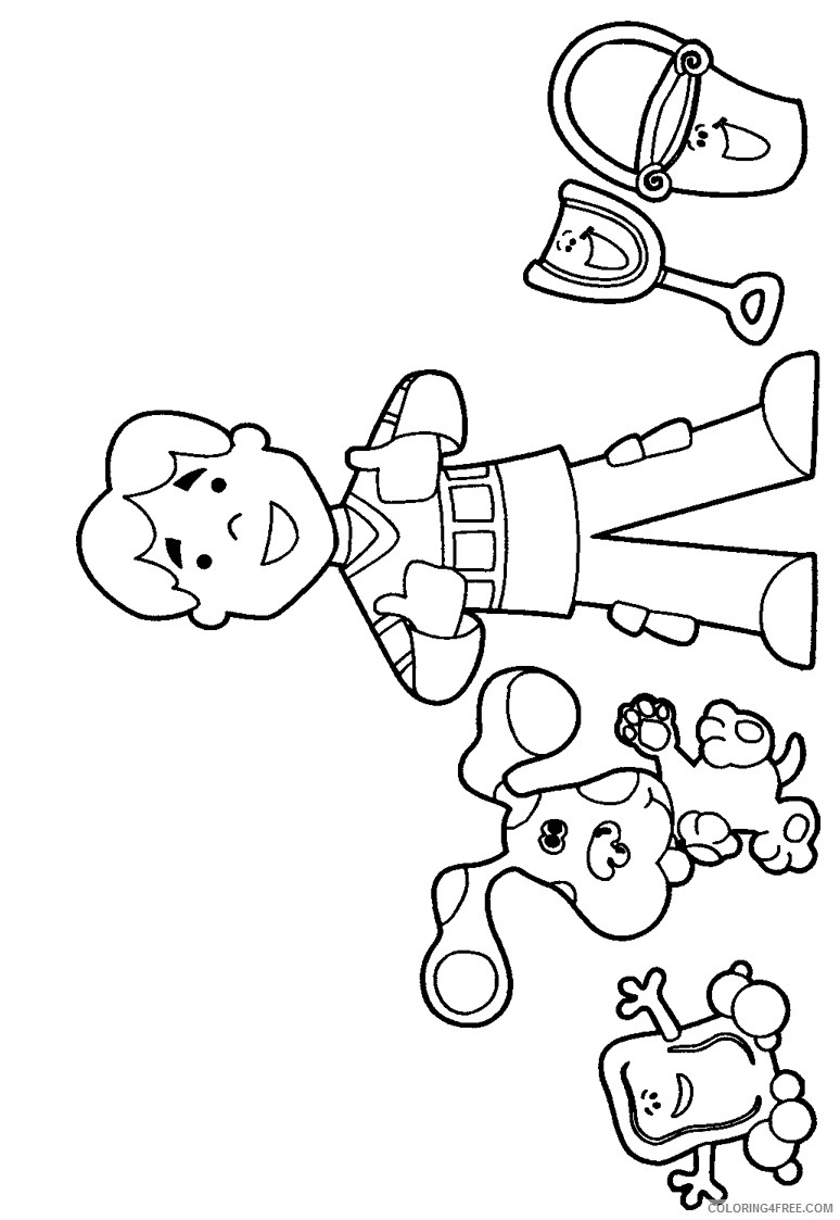 - Blues Clues Coloring Pages With Joe Coloring4free - Coloring4Free.com