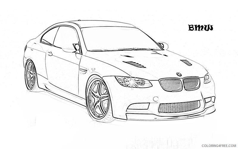 car coloring pages bmw convertible coloring4free
