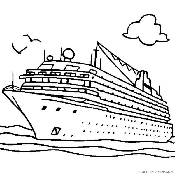 Boat Coloring Pages Cruise Ship Coloring4free Coloring4free Com