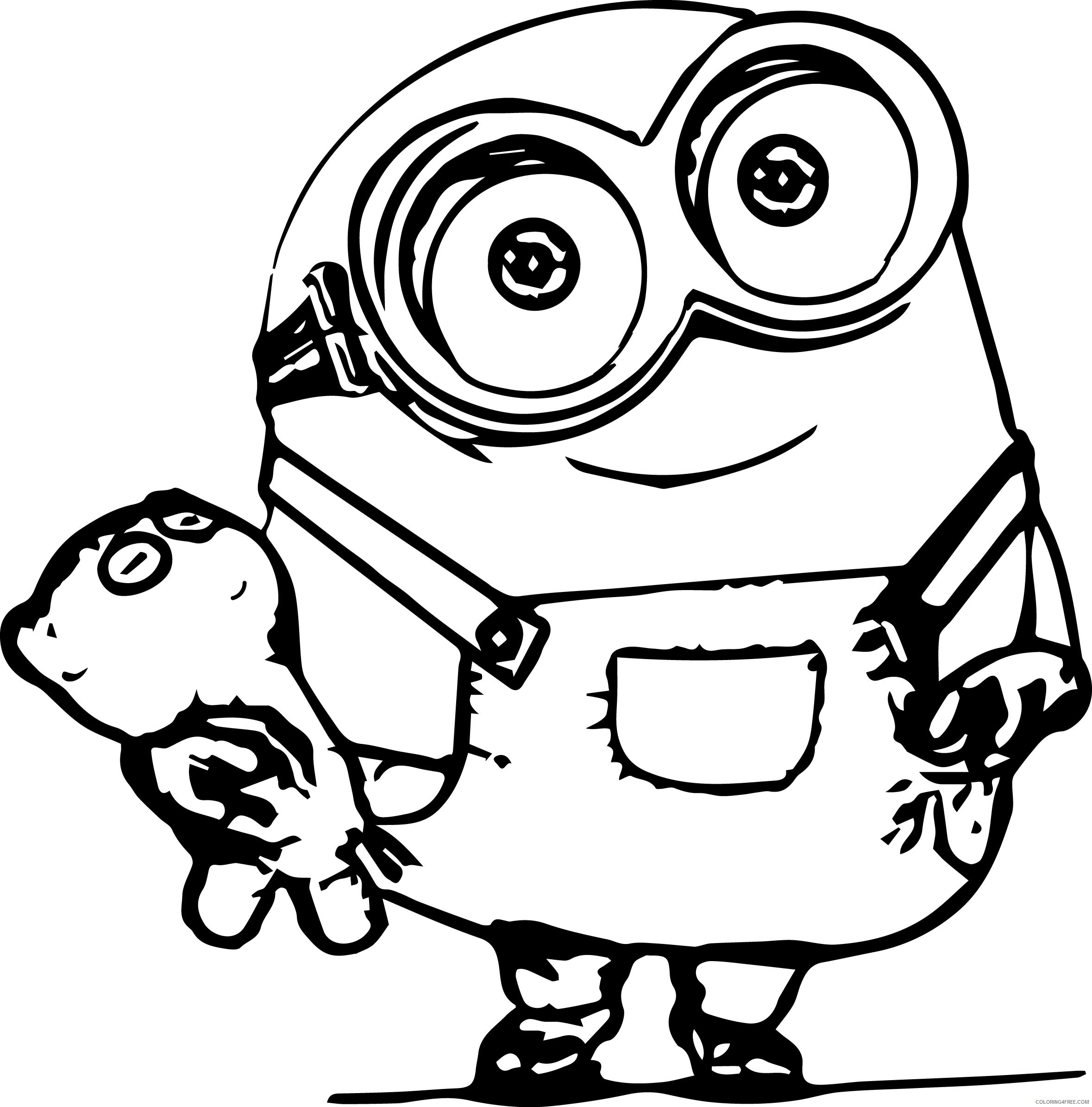 bob the minions coloring pages Coloring18free   Coloring18Free.com