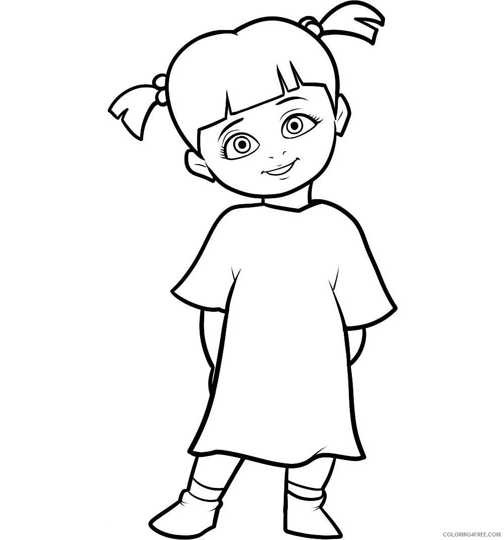 Monsters Inc Coloring Pages - Best Coloring Pages For Kids | 1079x1007