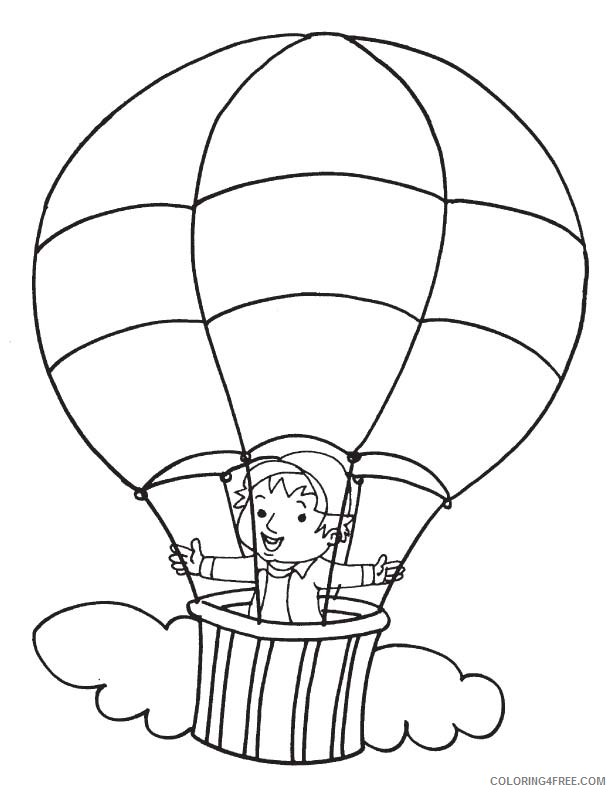 - Boy In Hot Air Balloon Coloring Pages Coloring4free - Coloring4Free.com