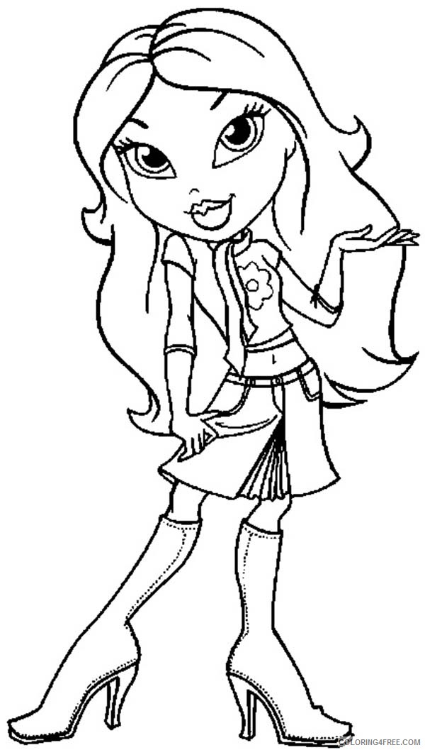 Free Printable Bratz Coloring Pages For Kids | 1057x600