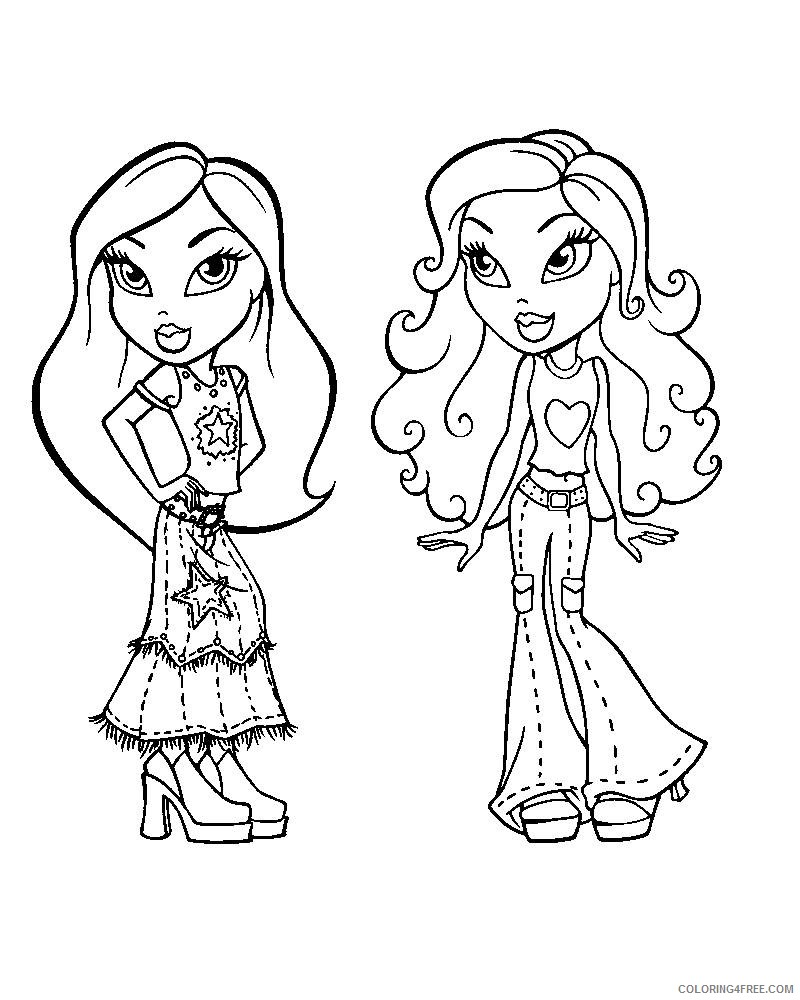 bratz coloring pages | BRATZ COLORING PAGES | Barbie coloring ... | 1000x800