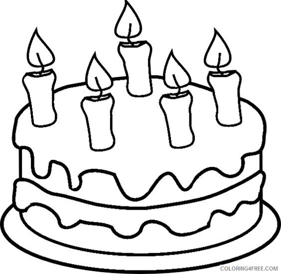 Cake Coloring Pages For Kids Coloring4free Coloring4free Com