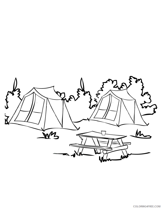 Campfire story coloring pages | 886x685
