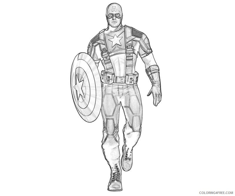 Captain America Coloring Pages Realistic Coloring4free - Coloring4Free.com