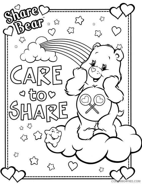 Care Bears Coloring Pages Cheer Bear Coloring4free Coloring4free Com