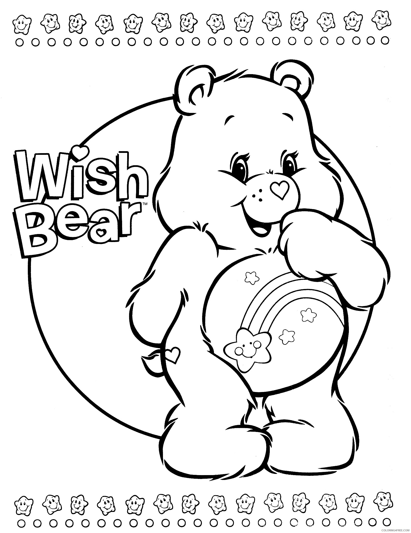 Free Printable Care Bear Coloring Pages For Kids | 2200x1700