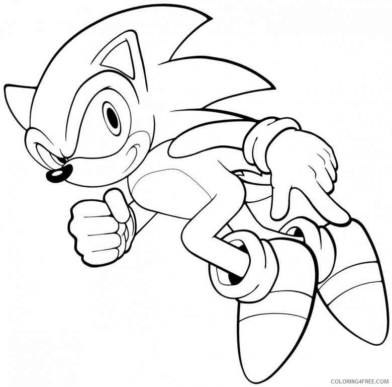 Cartoon Coloring Pages Sonic The Hedgehog Coloring4free - Coloring4Free.com