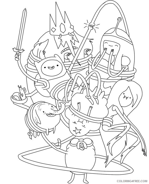 Cartoon Network Adventure Time Coloring Pages Coloring4free -  Coloring4Free.com