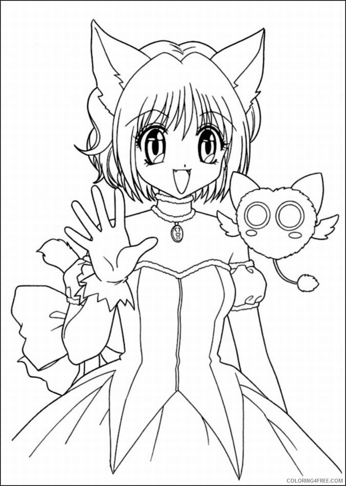 - Cat Girl Anime Coloring Pages Coloring4free - Coloring4Free.com