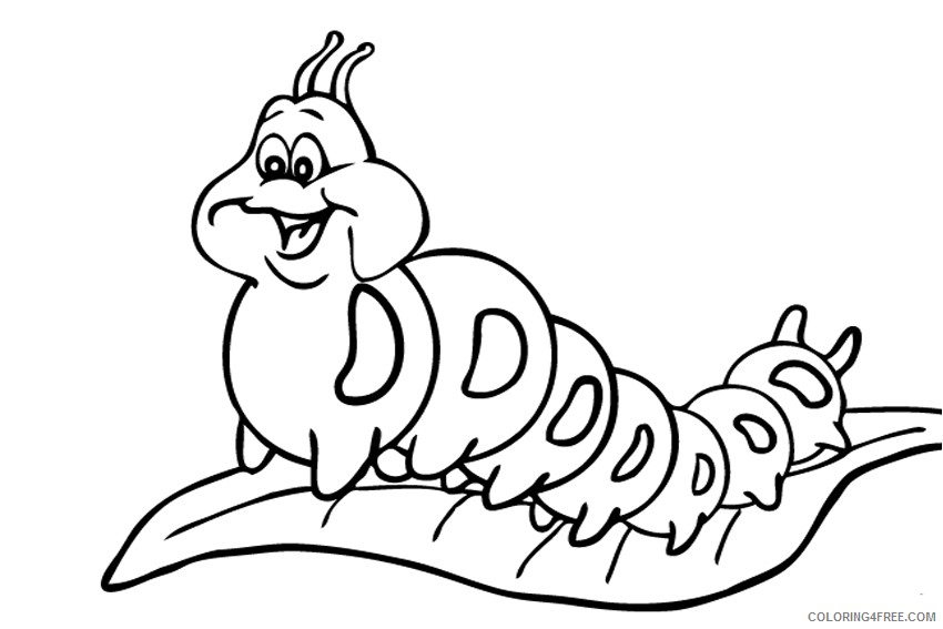 - Caterpillar Coloring Pages For Kids Coloring4free - Coloring4Free.com