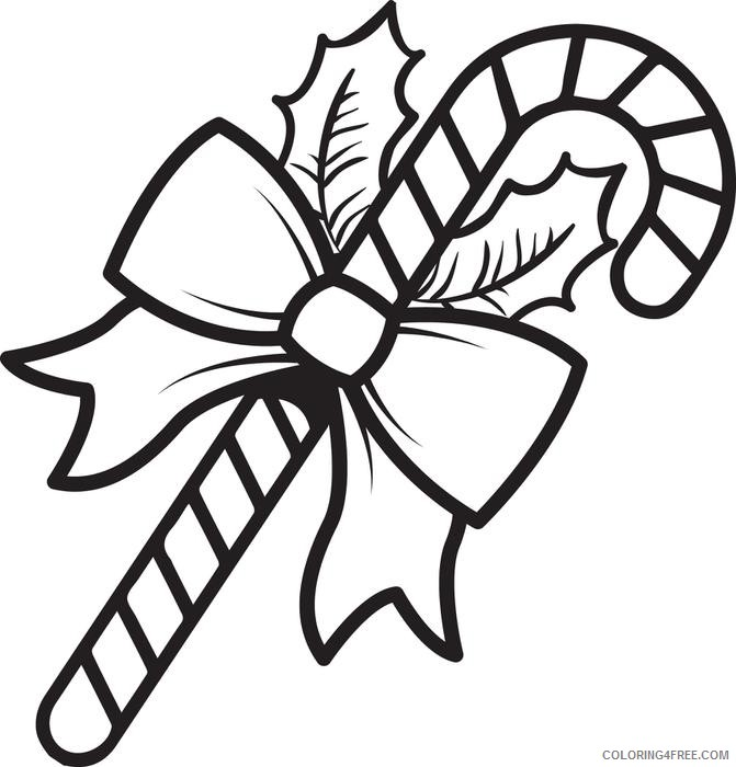 Christmas Candy Cane Coloring Pages Coloring4free Coloring4free Com