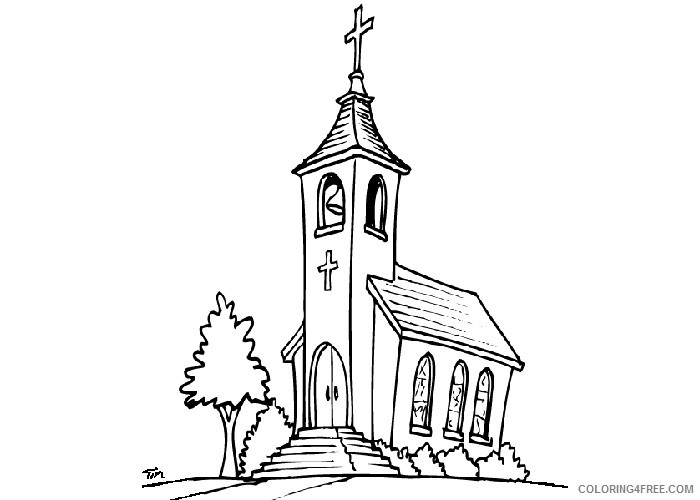 - Church Coloring Pages 3 Coloring4free - Coloring4Free.com