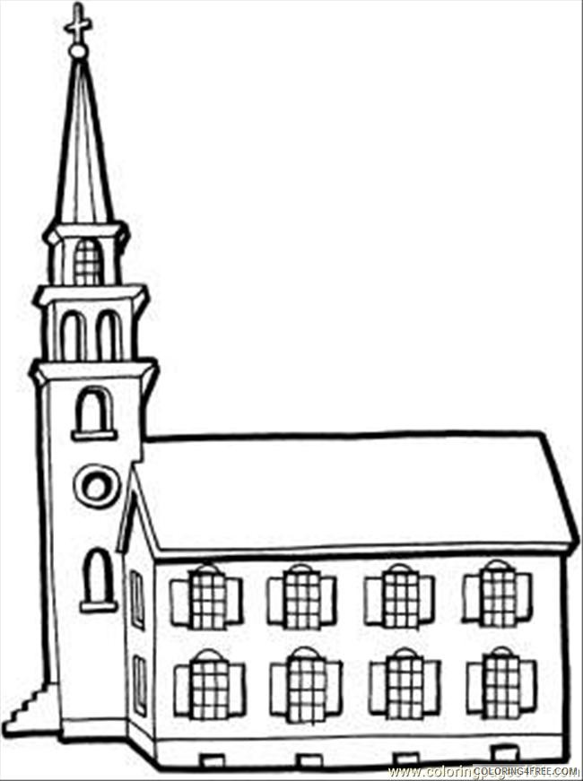 - Church Coloring Pages Free Printable Coloring4free - Coloring4Free.com