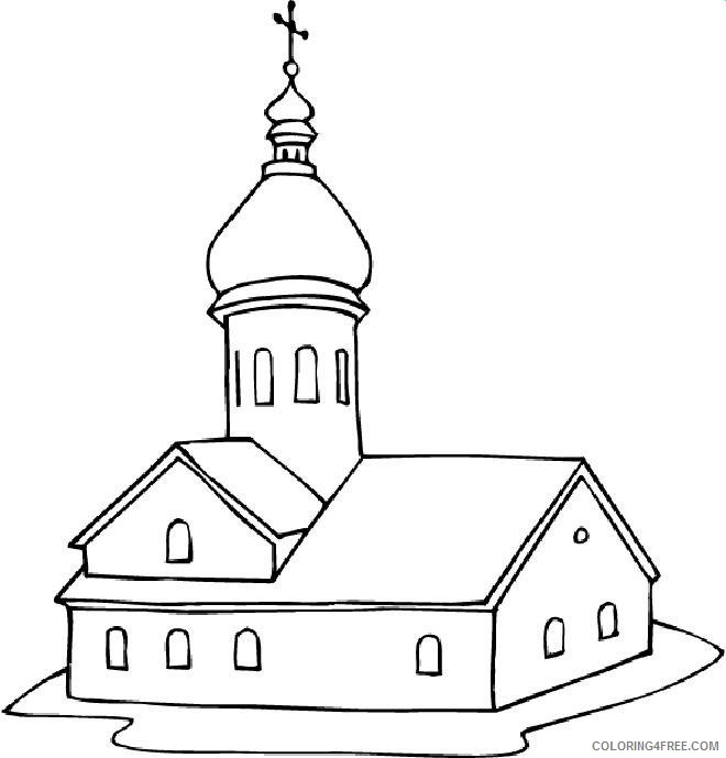 Church Coloring Pages Free To Print Coloring4free - Coloring4Free.com