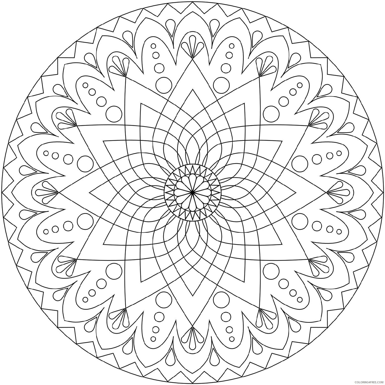 Circled Mandala Coloring Pages Printable Coloring4free Coloring4free Com