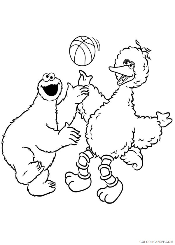 sesame street coloring pages big bird valentine Coloring4free ...   839x600
