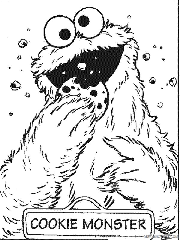 - Cookie Monster Sesame Street Coloring Pages Coloring4free -  Coloring4Free.com