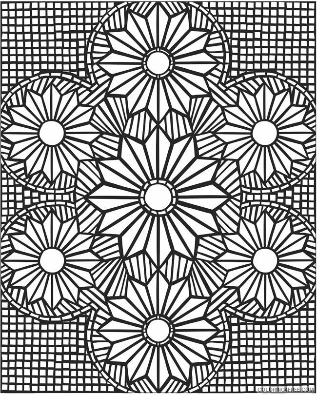 - Cool Geometric Design Coloring Pages Coloring4free - Coloring4Free.com