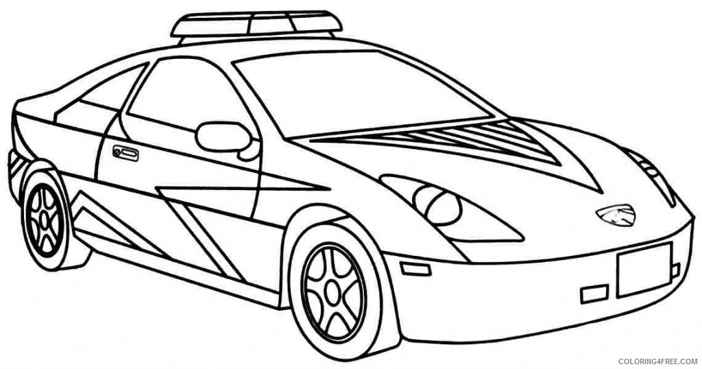 - Cool Police Car Coloring Pages Coloring4free - Coloring4Free.com