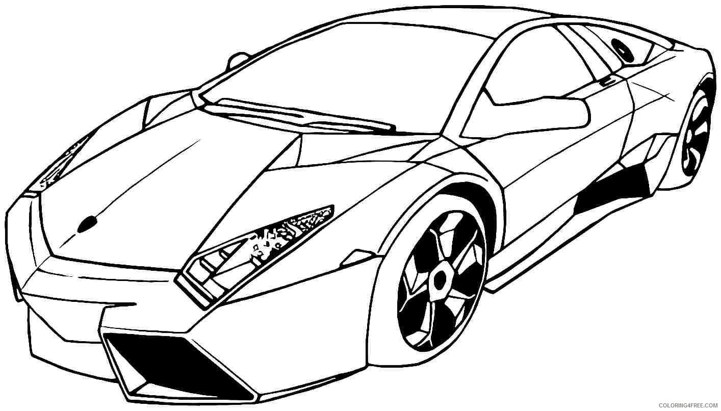 cool race car coloring pages lamborghini Coloring4free - Coloring4Free.com