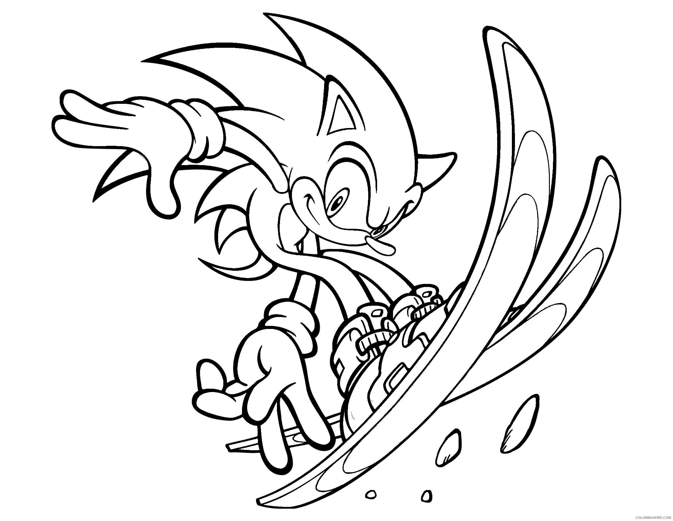 Sonic Silver Shadow Coloring Pages Coloring4free Coloring4free Com