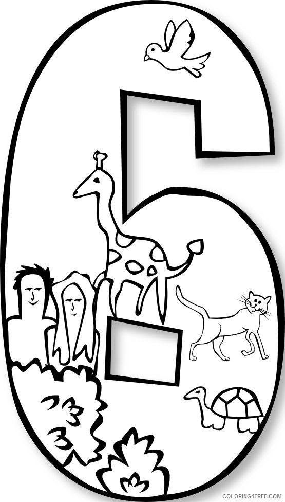 Creation Coloring Pages Day 6 Coloring4free - Coloring4Free.com