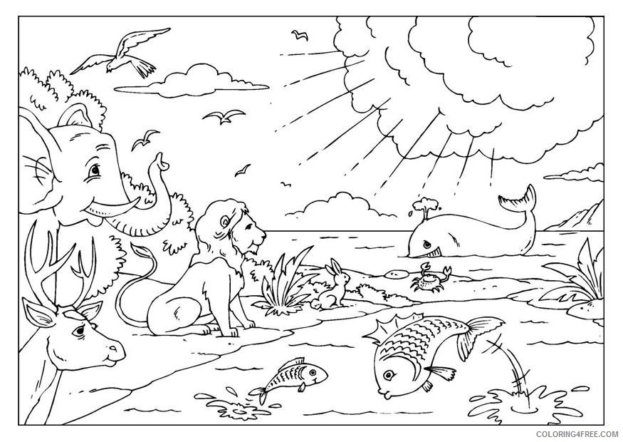 Creation Coloring Pages Printable Coloring4free - Coloring4Free.com