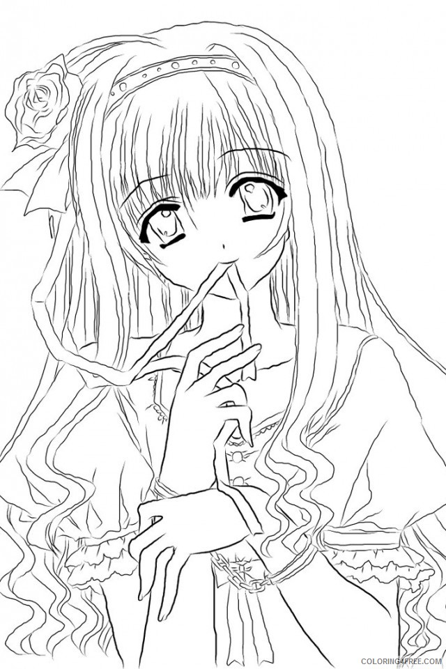 Pretty Anime Coloring Pages For Adults Coloring4free - Coloring4Free.com
