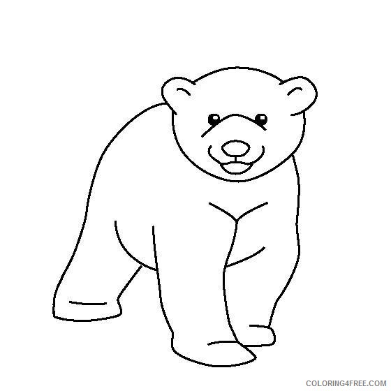 - Cute Baby Polar Bear Coloring Pages Coloring4free - Coloring4Free.com