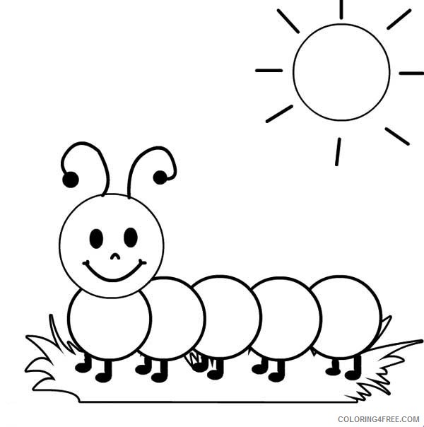 Cute Caterpillar Coloring Pages For Kids Coloring4free Coloring4free Com