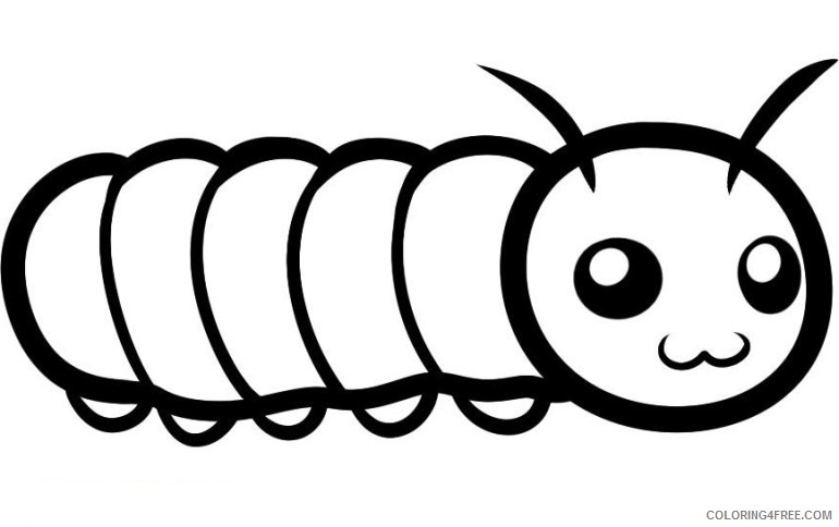 Cute Caterpillar Coloring Pages Printable Coloring4free - Coloring4Free.com