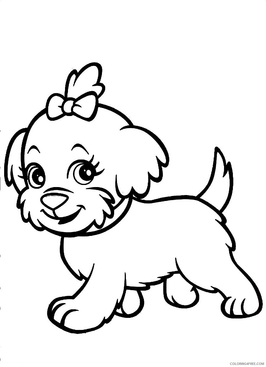 - Cute Dog Coloring Pages For Girls Coloring4free - Coloring4Free.com