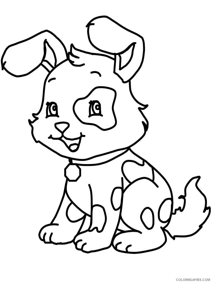 Cute Dog Coloring Pages To Print Coloring4free Coloring4free Com