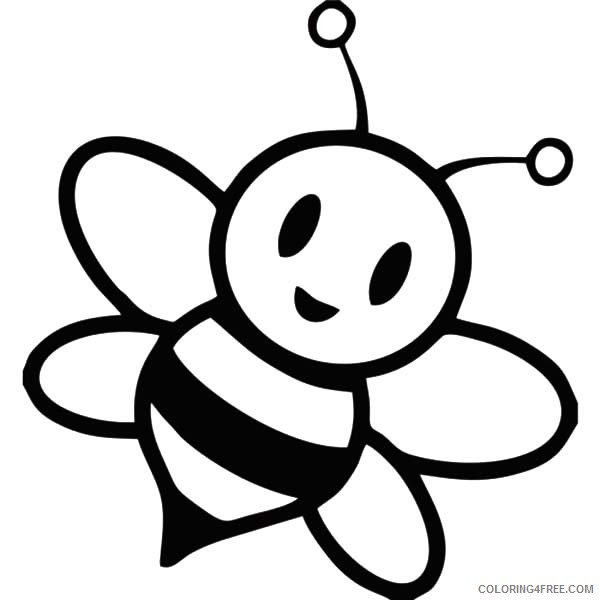 Cute Honey Bee Coloring Pages Coloring4free Coloring4free Com