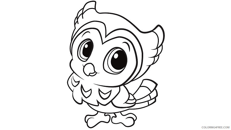 Cute Owl Coloring Pages For Kids Coloring4free - Coloring4Free.com