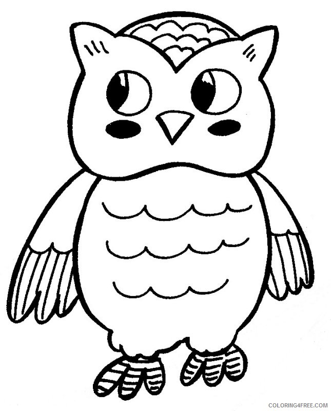 Cute Owl Coloring Pages Printable Coloring4free - Coloring4Free.com