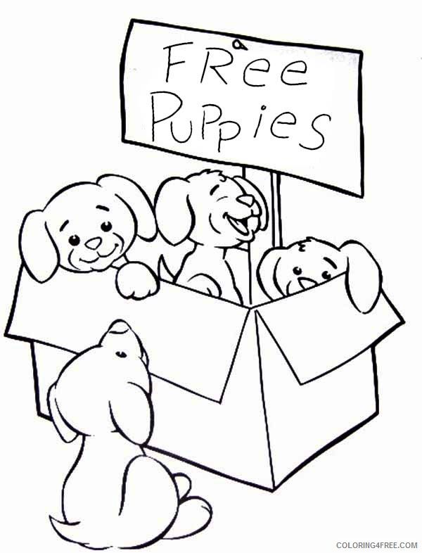 - Cute Puppies Coloring Pages Free Coloring4free - Coloring4Free.com