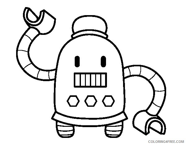 cute robot coloring pages for kids coloring4free coloring4free com cute robot coloring pages for kids