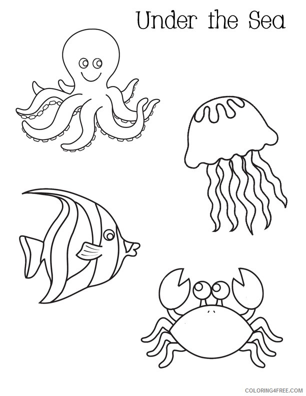 Cute Under The Sea Coloring Pages Animals Coloring4free Coloring4free Com