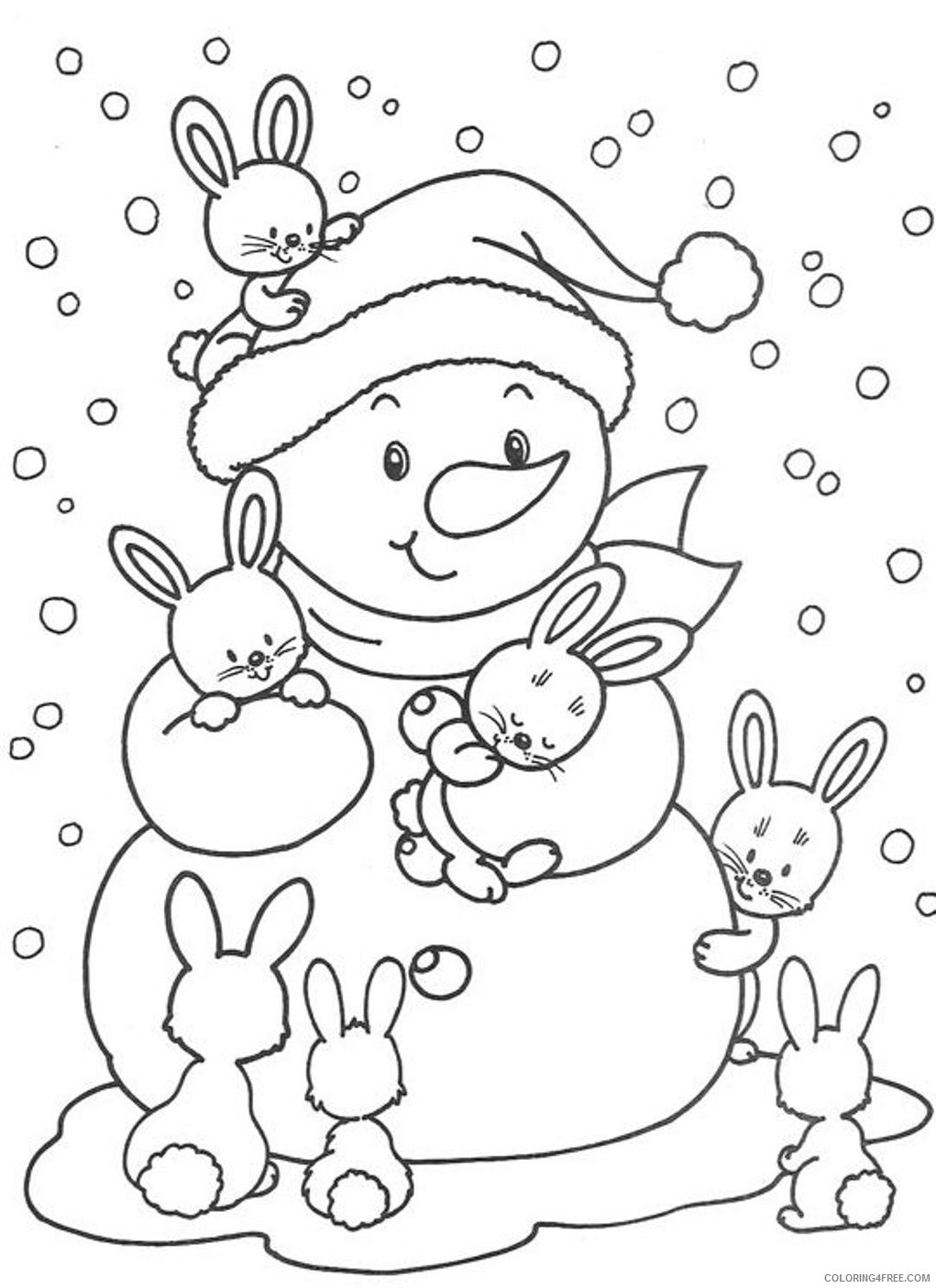 - Cute Winter Coloring Pages For Kids Coloring4free - Coloring4Free.com