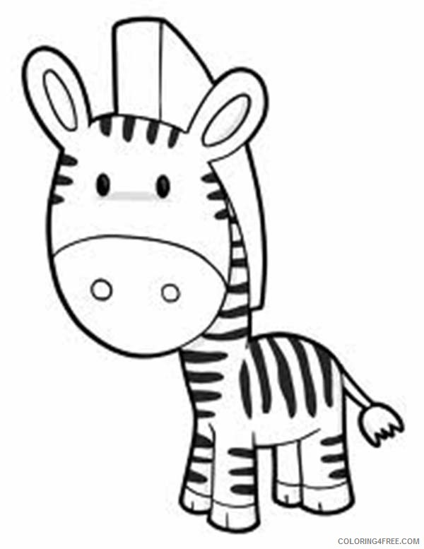 Cute Zebra Coloring Pages Coloring4free - Coloring4Free.com