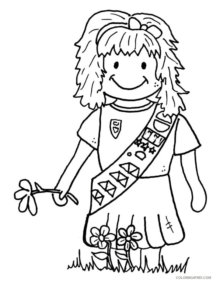 Daisy Girl Scout Coloring Pages Free 144 | Free Printable Coloring ... | 923x700