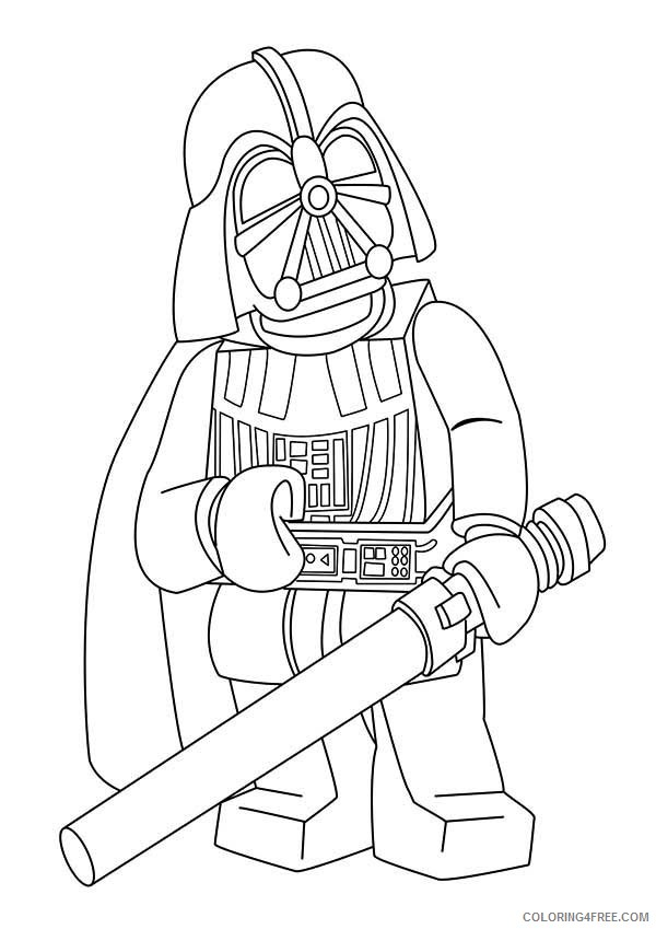 Lego Darth Vader Coloring Pages