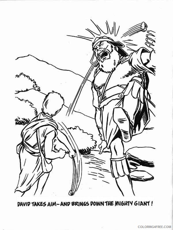 David And Goliath Coloring Pages Ideas - Whitesbelfast | 796x600